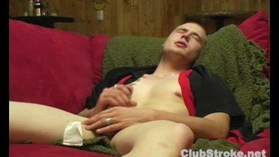 Blonde Straight TJ Masturbating His Large Penis