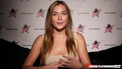 DP Star 3 - Flexible Tall Blonde Blair Williams Deep Throat blowjob
