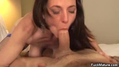 Karen Cougar Jizzed After A Ha