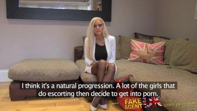 FakeAgentUK Anal creampie for pretty blonde