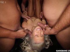 Preview 1 of Kacey Jordan Gets Gangbanged And 8 Creampies
