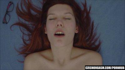 Redhead Girl Rubbing Big Lips Pussy