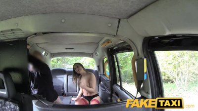 FakeTaxi Hot teen in red dress
