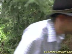 Preview 3 of German Outdoor Gangbang Orgy