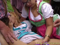 Preview 5 of German Outdoor Gangbang Orgy