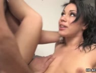 Super hot black raven is bent over and doggy style pummeled