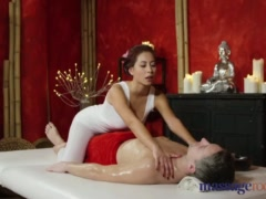 Massage Rooms Nympho asian fucks big cock before hot hand job
