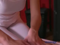 Massage Rooms Hot Asian babe has tight shaved pussy filled with big cock