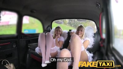FakeTaxi Angels fuck santas little helper