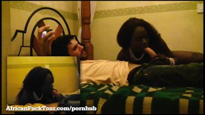 Amateur African Teen Rides A Big White Dick!