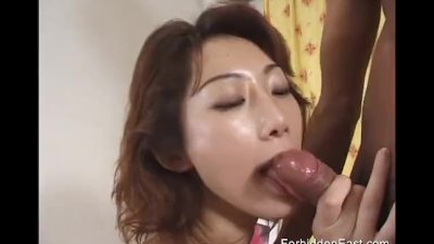 Oriental girl in kinky white boots shows how to lick and suck cock