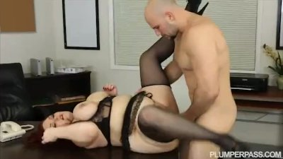 Sexy Plump Busty Redhead Fucks Her Hubby Boss
