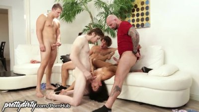 PrettyDirty Gina Blows StepBrother and All His Friends