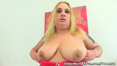 Busty and British milf Sookie