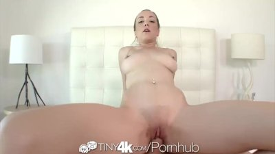 Tiny4K - Petite Victoria Rae Black gives BJ and fuck
