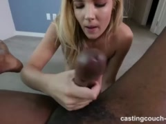 Preview 8 of Hot White Girl Fucks Her First Ebony Guy For Chance At A Job