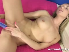 Horny bitch cant get enough of her sex toys
