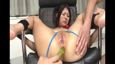 Asian nerd uses her sex toy for some pussy action
