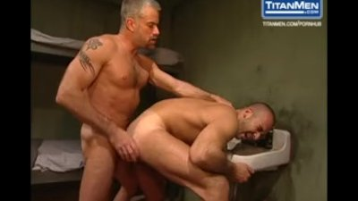 Furry Muscular Latino Gets Fucks His Cellmate