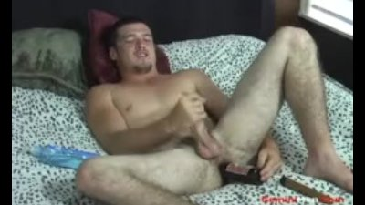 Nervous Straight Guy Fucks His Ass, Jerks Off Skeets and Eats