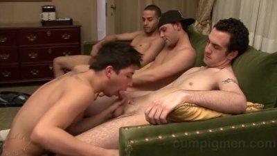 Logan Everett with Josh and Gino and Tony