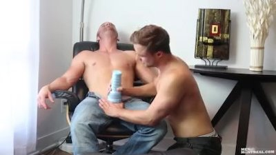 MenOfMontreal Heavenly Fleshlight And Blowjob