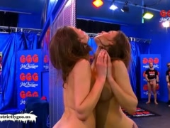 Dirty Luisa takes on an Army of Cocks – German Goo Girls