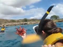 Cumming on Kristina Bell in Hawaii