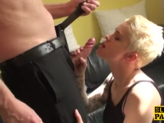 Preview 4 of Uk Leashed Sub Slut Rough Fucked Doggystyle