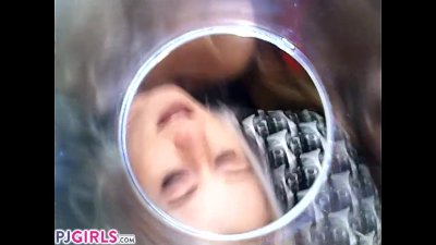 PJGIRLS Silvia DeLuxe sticks camera inside her vagina RAW pussy cam footage