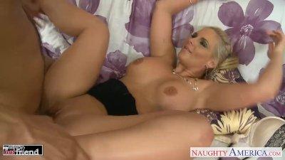 Blonde babe Phoenix Marie take cock