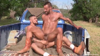 RagingStallion Boomer Banks\' Huge Cock Fucking Outdoors