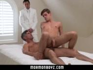 MormonBoyz - Horse hung daddy fucks the cum out of Mormon boy
