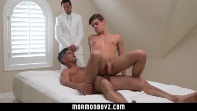 MormonBoyz - Horse hung daddy fucks the cum out of Mormon boy