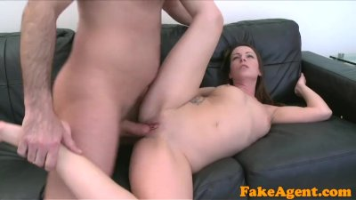 Fake Agent Milf loves sucking and hard fucking on set