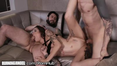BurningAngel Goth StepSister Double Penetrated