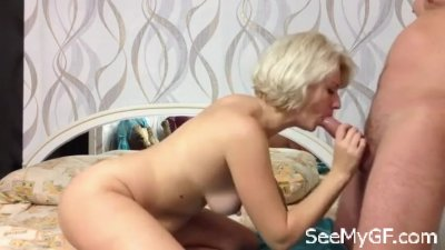 Hot sex with my blonde wife riding on top
