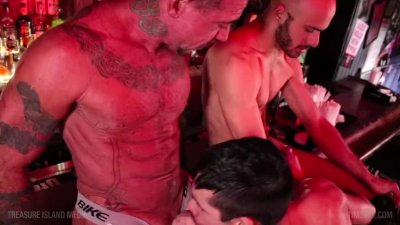 Trio of Bar blowjobs - Part 2 - Ty Mitchell, Rafael Ruido & Ray Dalton