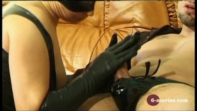 6-movies.com - Blow and Handjob in Latex -