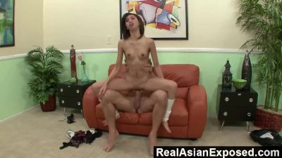 RealAsianExposed - Asian schoolgirl\'s pussy gets stretched to the limit