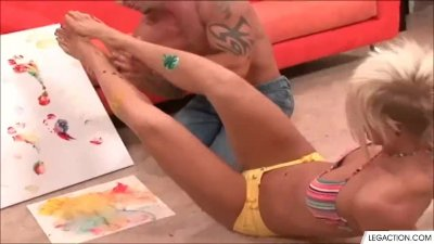 Myka Rain Gives A Nasty Foot Job