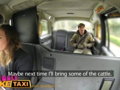 FemaleFakeTaxi Nervous farmer can\'t satisfy driver