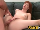 fake agent creampie for new redhead american model who loves to fuckPorn Videos