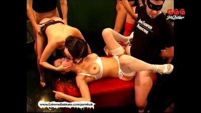 Cum addicted MILFS Adina Viktoria and Andrea in the Sperm Arena