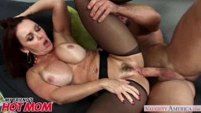 Redheaded MILF Janet Mason seduces her son\'s young friend - Naughty America