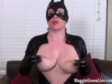 busty catwoman maggie green plays with pussy!Porn Videos