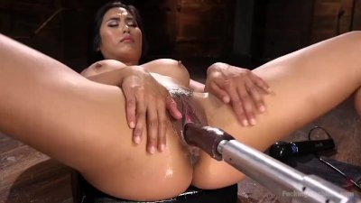 Asian Mega Babe is Fucked into Oblivion!!