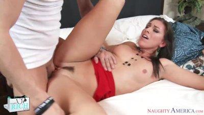 Rich girl Rilynn Rae swallows and fucks a big dick - Naughty America