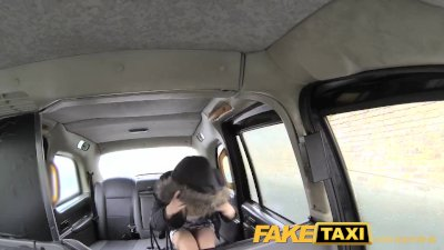 FakeTaxi Busty tv star gets a sticky facial