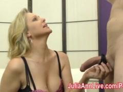 Milf Julia Ann Teases Slave with her Feet!